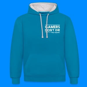 Official GalaxyGamingHD Blue & Grey Men's Hooded Jumper - Contrast Colour Hoodie