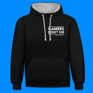 Official GalaxyGamingHD Grey & Black Men's Hooded Jumper - Contrast Colour Hoodie