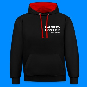 Official GalaxyGamingHD Red & Black Men's Hooded Jumper - Contrast Colour Hoodie