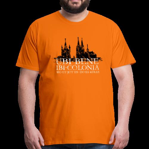 UBI BENE DO ES KÖLLE Dom St.Martin (Vintage S/W) Köln Skyline - Männer Premium T-Shirt