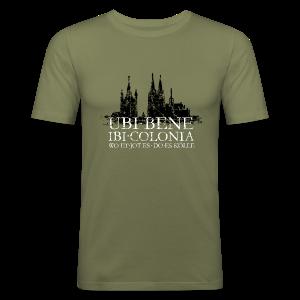UBI BENE DO ES KÖLLE Dom St.Martin (Vintage S/W) Köln Slim Fit T-Shirt - Männer Slim Fit T-Shirt