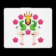 Övrigt ~ Musmatta (liggande format) ~ Rådjur, kaniner och flamingos