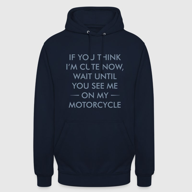 CUTE ON MOTORCYCLE UNISEX HOODIE - Unisex Hoodie