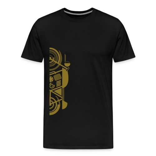 Wrench Kings - Ride tot the top -Black & Gold Basic T - Mannen Premium T-shirt