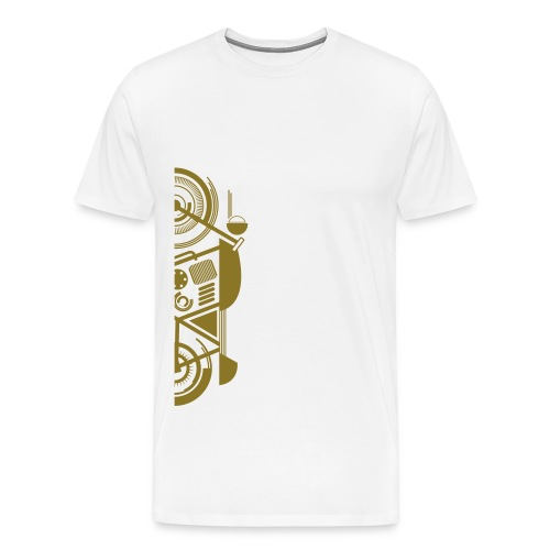 Wrench Kings - Ride tot the top -White & Gold Basic T - Mannen Premium T-shirt