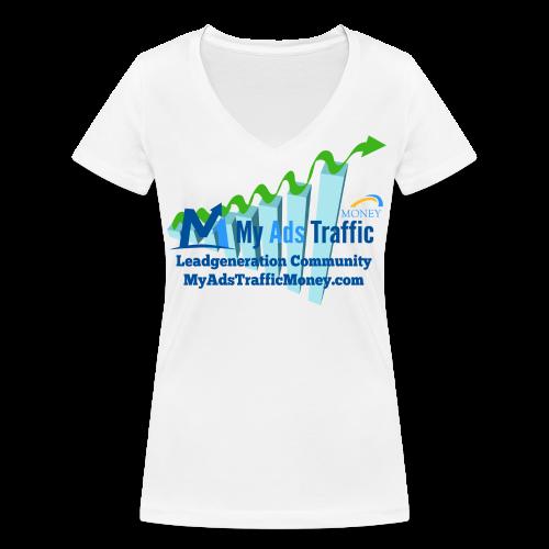 MyAdsTrafficMoney Frauen T-Shirt mit V-Ausschnitt - Frauen Bio-T-Shirt mit V-Ausschnitt von Stanley & Stella