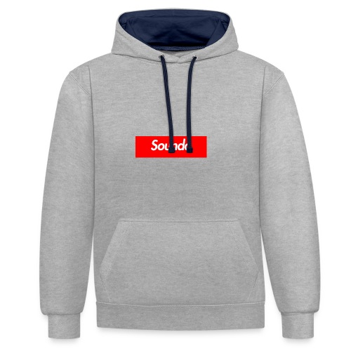 Soundo x Supreme Hoodie Grey/Black - Contrast Colour Hoodie