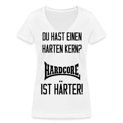 Hast du einen harten Kern? Frauen T-Shirt mit V-Ausschnitt - Frauen Bio-T-Shirt mit V-Ausschnitt von Stanley & Stella