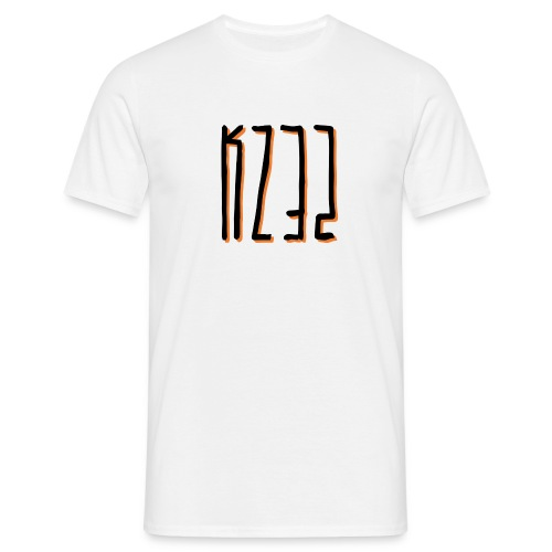 'KZ32' Shadowed T-Shirt - White - Men's T-Shirt