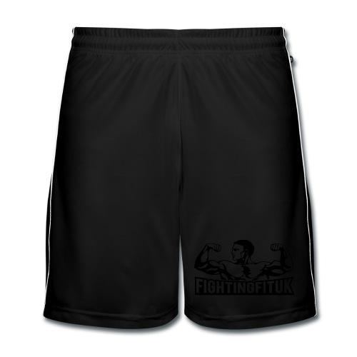 Fighting Fit UK mens football shorts - new black logo - Men's Football shorts