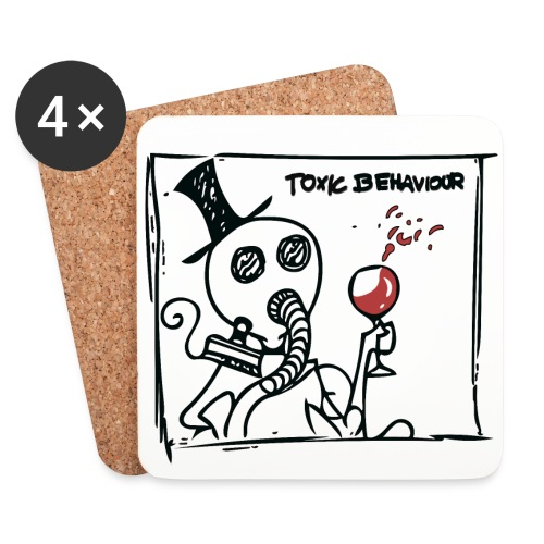 Toxic Behaviour Coasters (4 pack) - Coasters (set of 4)