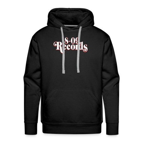 18-09 Records Men's White Hoody - Men's Premium Hoodie