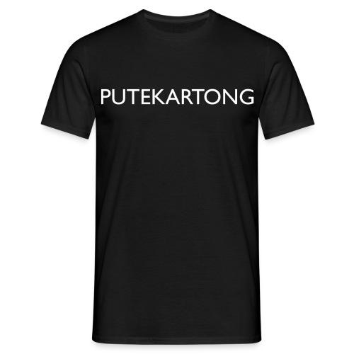 Putekartong T-skjorte med logo - T-skjorte for menn