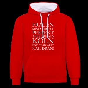 Frauen aus Köln Kontrast Hoodie - Kontrast-Hoodie