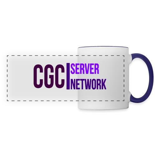 CGC - Logo - Tasse mit blau gefärbten Hänkel - Panoramatasse