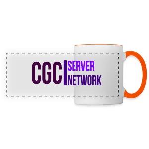 CGC - Logo - Tasse mit orange gefärbten Hänkel - Panoramatasse