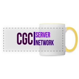CGC - Logo - Tasse mit gelb gefärbten Hänkel - Panoramatasse