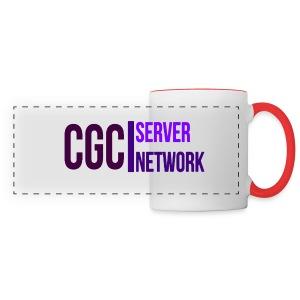 CGC - Logo - Tasse mit rot gefärbten Hänkel - Panoramatasse