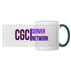 CGC - Logo - Tasse mit grün gefärbten Hänkel - Panoramatasse