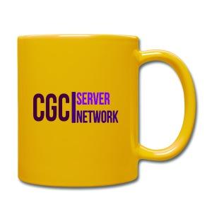 CGC - Logo - Vollcolorierte Tasse - Gelb - Tasse einfarbig