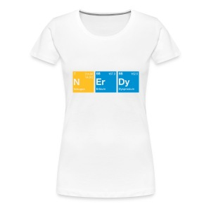Nerdy Periodic Table of Elements T-Shirt - Frauen Premium T-Shirt