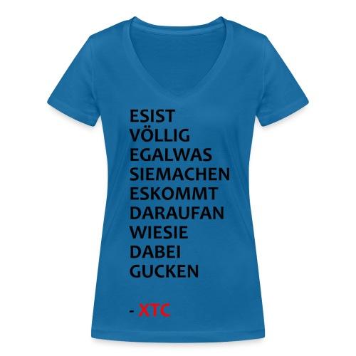 Es ist völlig egal Frauen T-Shirt mit V-Ausschnitt - Frauen Bio-T-Shirt mit V-Ausschnitt von Stanley & Stella