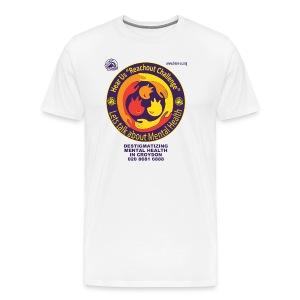 Reachout Challenge Logo Purple Text - Men's Premium T-Shirt