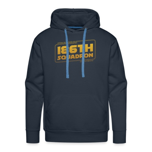 186th Squad Hoodie (with custom text on back) - Men's Premium Hoodie