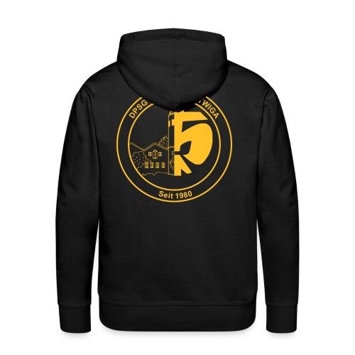 DPSG Kattwiga (Männer) Kapuzenpullover Version 4 (Aufdruck Gold/Gelb) (Flexdruck) - Männer Premium Hoodie