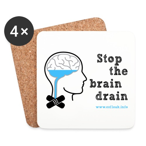 Stop the Brain Drain Coasters - Coasters (set of 4)