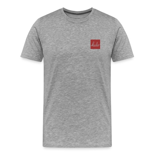 Red Halo Square Design Premium Tee - Men's Premium T-Shirt
