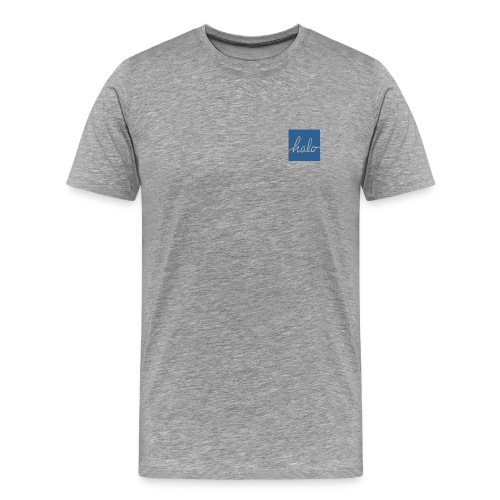 Blue Halo Square Design Premium Tee - Men's Premium T-Shirt