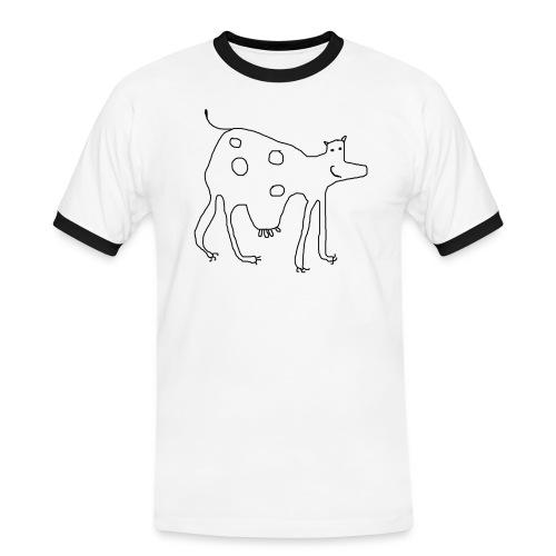 Cow - Kontrast-T-skjorte for menn