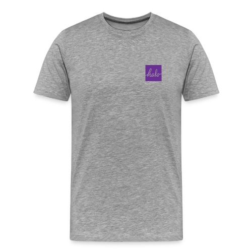 Purple Halo Square Design Premium Tee - Men's Premium T-Shirt