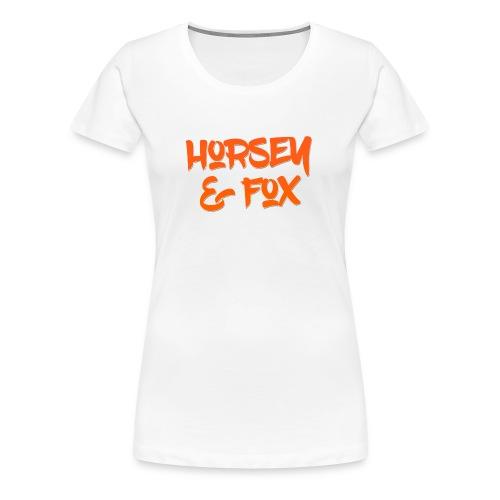 Female Horsey & Fox Tee - Women's Premium T-Shirt