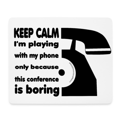 Phone Keep Calm mousepad - Tappetino per mouse (orizzontale)