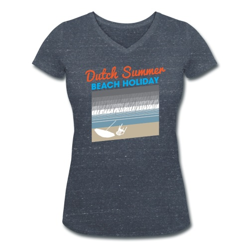 Dutch Summer vrouwen v-hals bio - Vrouwen bio T-shirt met V-hals van Stanley & Stella