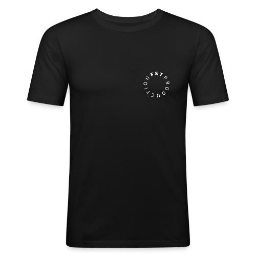 TSHIRT PRES DU CORPS FS7 LOGO BLANC - T-shirt près du corps Homme