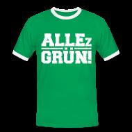 ALLEz GRÜN! - Männer - Kontrast-T-Shirt