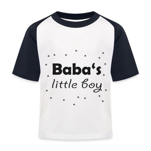 Baba's little boy Kinder Baseball T-Shirt - Kinder Baseball T-Shirt
