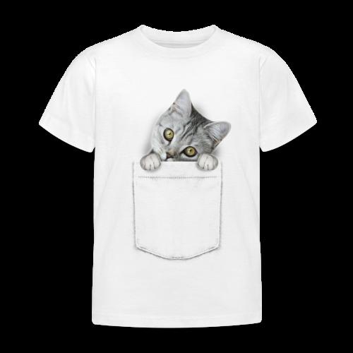 Katze guckt aus der Tasche - Kinder T-Shirt