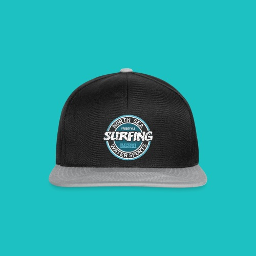 North Sea Surfing (oldstyle) Snapback - Snapback Cap