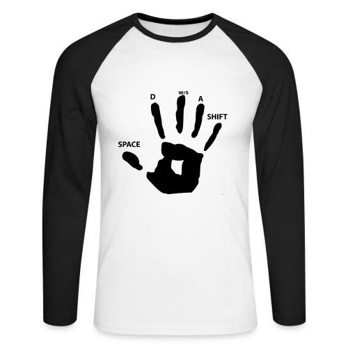Gamers sweat shirt - Men's Long Sleeve Baseball T-Shirt