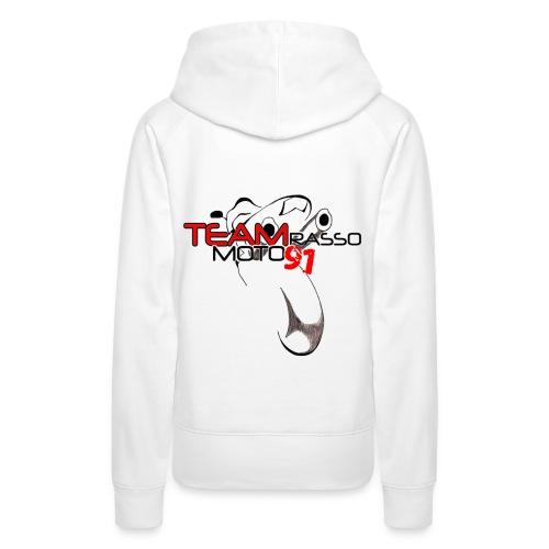 Sweat-shirt à capuche femme TRM91 Blanc - Sweat-shirt à capuche Premium pour femmes