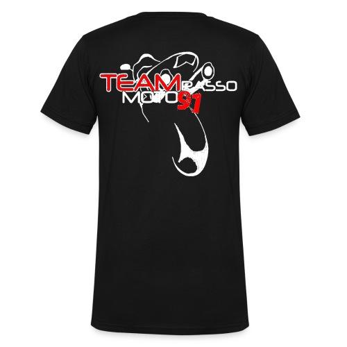 Tee shirt Homme col V TRM91 Noir - T-shirt bio col V Stanley & Stella Homme