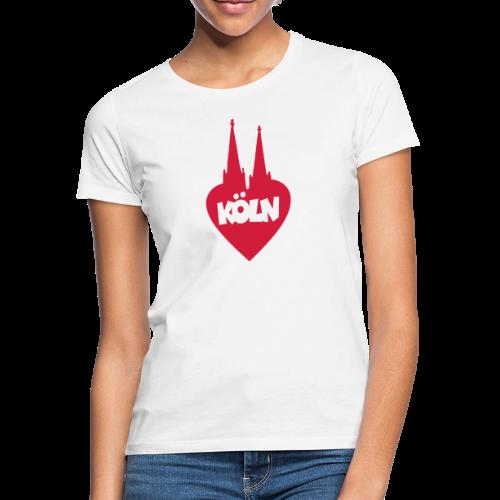 I love Köln mit Herz und Dom - Frauen T-Shirt