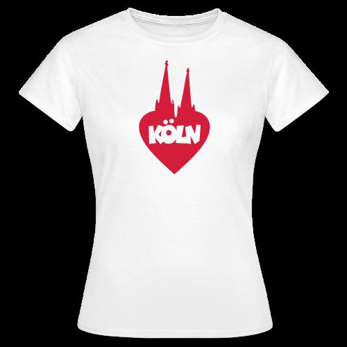 I love Köln mit Herz und Dom T-Shirt - Frauen T-Shirt