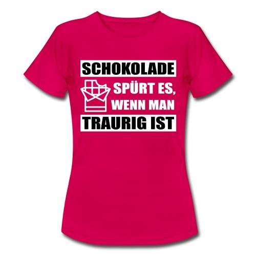 Frauen T-Shirt Schokolade spürt es... - Frauen T-Shirt