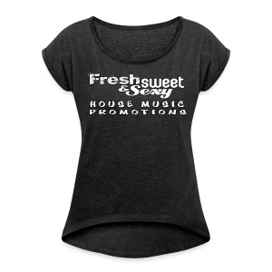 F.S.&.S Women's T-shirt with rolled up sleeves - Women's T-shirt with rolled up sleeves
