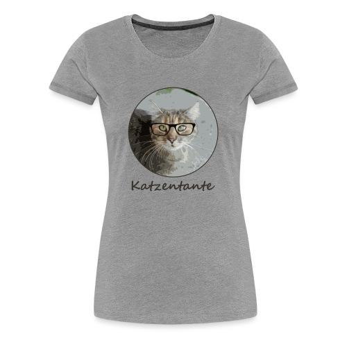 Katzentante Schrift - Frauen Premium T-Shirt